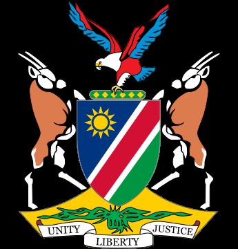 国徽】中间的盾面上为国旗图案.